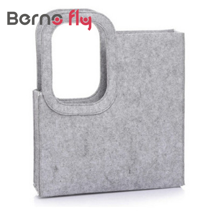 BERNO FLY Lady Tote Bag Creative Vertical Square Trend Felt Bag for Women Handba