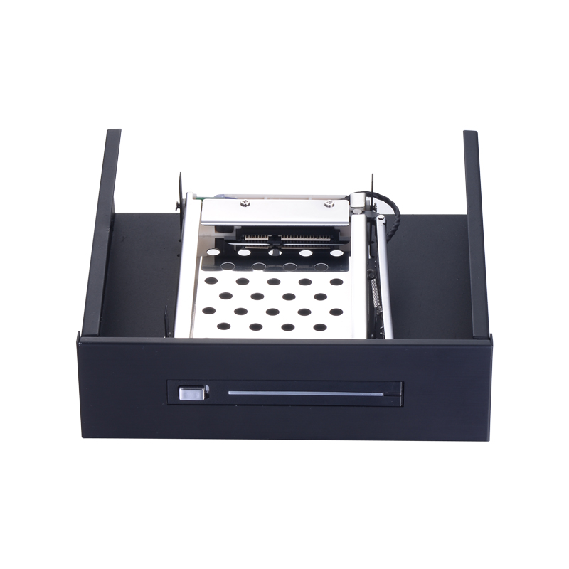 Uneatop single bay <font><b>2.5</b></font> inch <font><b>to</b></font> 5.25in optical pc bay SATA HDD mobile rack hot-swap enclosure image