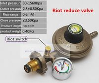 Gold color belt table home gas gas stove water heater liquefaction valve (riot switch).