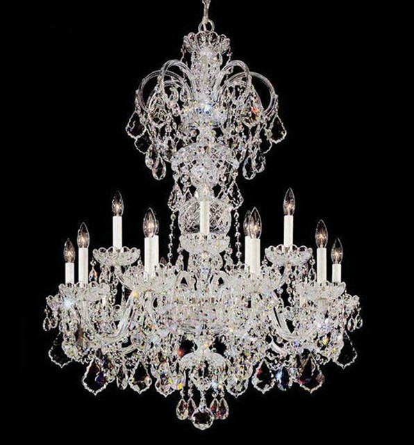 Italy large LED candelabro modern crystal chandelier lamps living room hotel foyer white candle holders chandelier crystal Light