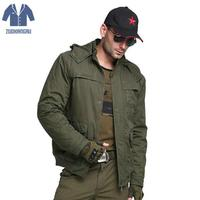 Tactical Jacket Men Winter Parkas Coat Amry thermal thick parka Coat Military Hooded Jacket Waterproof Windbreaker outwear