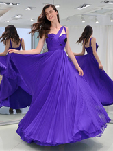 Smileven Purple Chiffon Spaghetti Strap Prom Dress 2019 Double Shoulder Evening Gowns Sexy Beaded Floor Length Party Prom Gowns цена и фото