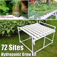 72 Site Hydroponic System Nursery Pot Planter Indoor Garden Grow Vegetable Flower Water Planting Soilless Seedling Flower Stand
