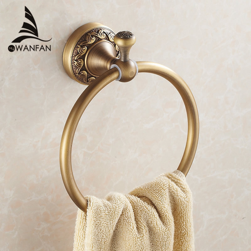 New Arrival Euro style Wal-mount Antique Bronze Towel Ring Classic Bathroom Accessories Bath Towel Holder Bath Hardware 3707F fully copper bathroom towel ring holder silver