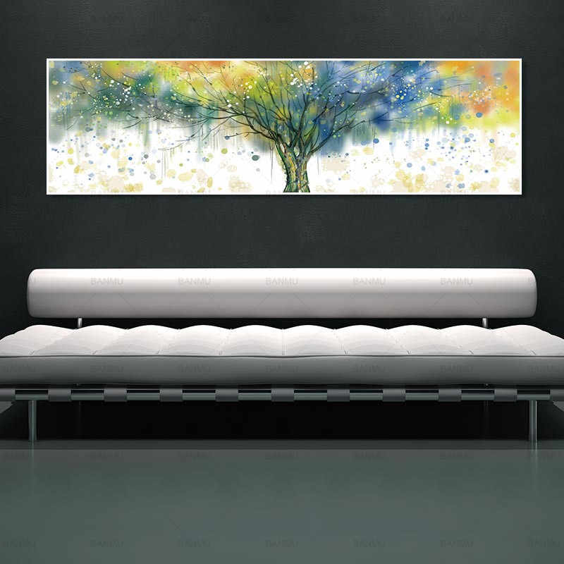 modern art painting wall picture decorative art painting canvas wall art  living room and poster picture art print tree no frame