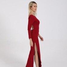 Sexy Woman Backless High Slit Peplum Dresses 2019 Autumn Elegant Womens Bodycon Long Dress Vestidos