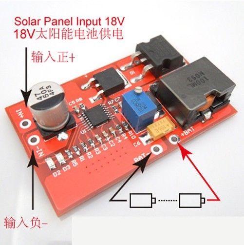 CN3722 MPPT Solar Charger Controller 2S 3S 4S Li-ion Lifepo4 Lithium Battery Charging Control 8.4V 10.8V 12.6v 14.4V 16.8V
