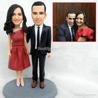 Валентина подарок на день рождения Подарок на годовщину кукла из полимерной глины специальный подарок ручной работы торт Топпер Декор пода