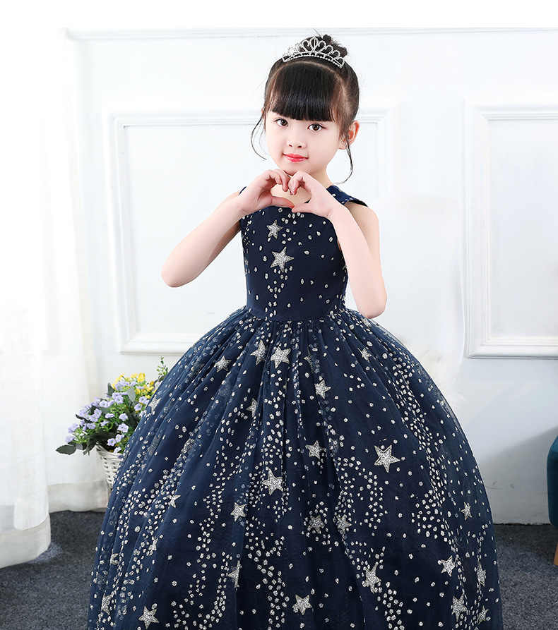 39c9498f82d7 Detail Feedback Questions about Fancy Starry Sky Long Prom Dresses ...