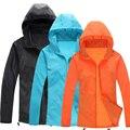 Любители Пара Кожи Солнцезащитный Крем Анти-Уф На Открытом Воздухе Кожа Пальто Дождя Quick Dry Куртка Мужчины Женщины Ветрозащитный Защита От Солнца Casacos