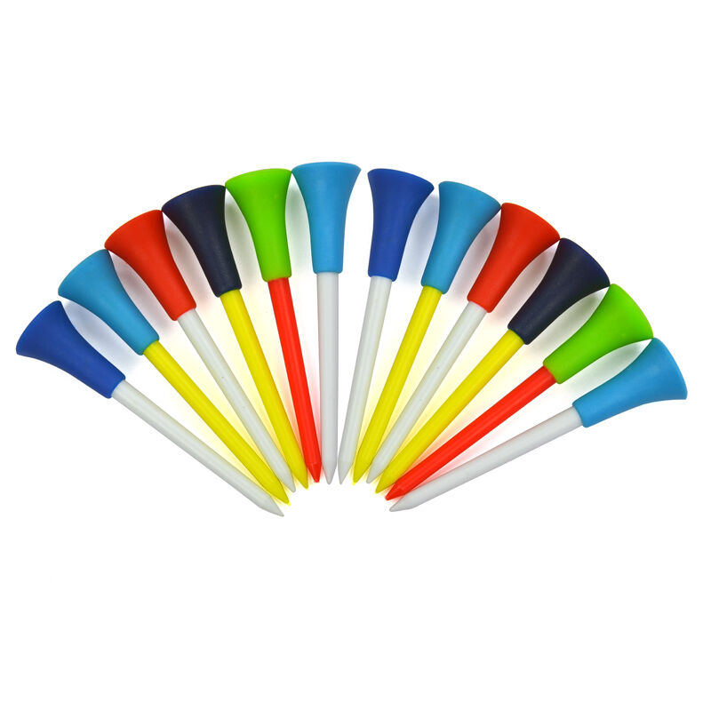 20 Count Golf Tees Plastic Mixed Color 56mm 72mm 85mm