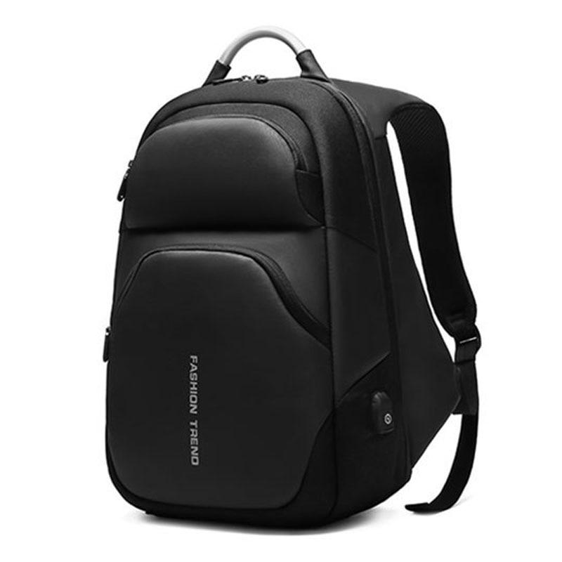 Sacs à dos d'ordinateur portable hommes USB charge à la mode affaires sac à dos hydrofuge grande capacité voyage sac à dos mâle mochila ML045