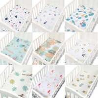Baby Krippe Ausgestattet Blatt 100% Baumwolle Weiche Baby Bett Matratze Abdeckung Cartoon Neugeborenen Bettwäsche Für Bett Größe 130*70 cm