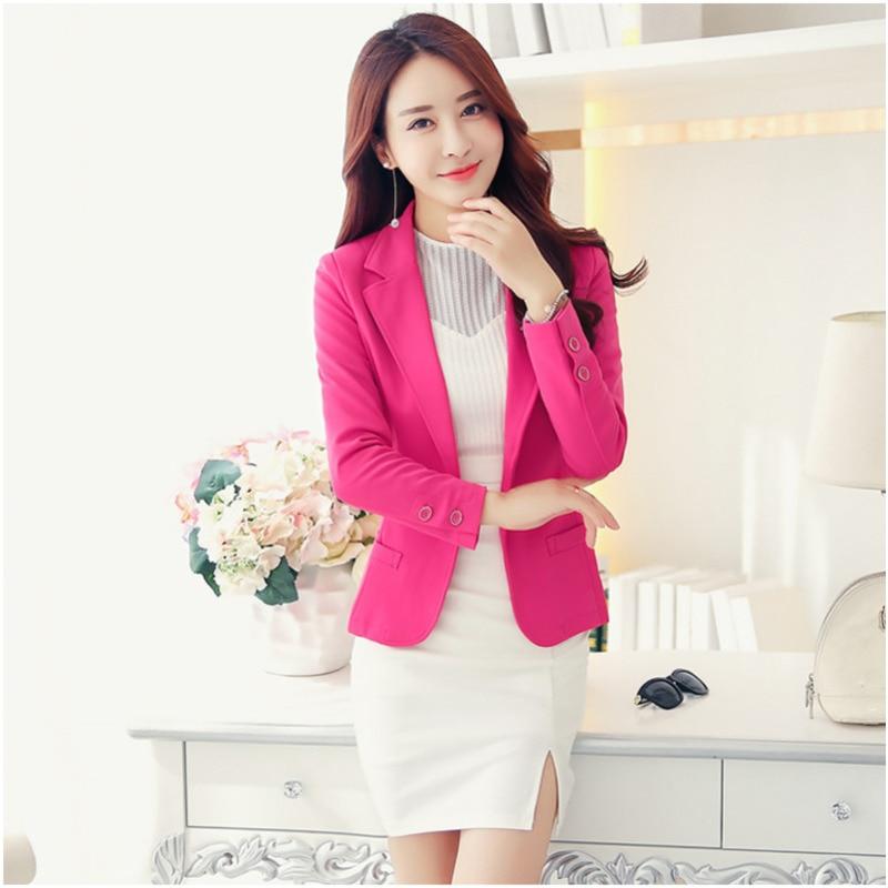 PEONFLY Blazer Women New Arrivals  Ladies Blazers Sleeve Long Business Office Suit Jackets Female Blue Purple Gray Blaser Femme