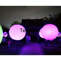 Flashing Led light balloon Party decorations inflatable beach ball Anniversary party supplies inflatable PVC balloon
