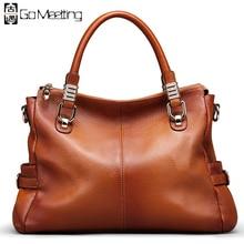 Gehen Meetting Marke Echtes Leder frauen Handtaschen Hochwertige Rindsleder Frauen Schulter Vintage Umhängetaschen Umhängetasche WS59