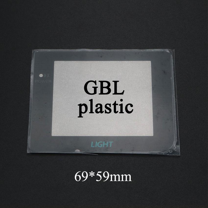 Купить с кэшбэком YuXi New Plastic Glass Screen Lens For Gameboy Color Advance For GB GBA SP GBC GBL GBP Lens Protector W/ Adhensive