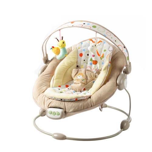 Free shipping bright starts mental baby rocking chair for Chaise vibrante