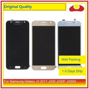 "Image 1 - מקורי 5.0 ""עבור Samsung Galaxy J3 2017 J330 LCD תצוגה עם מסך מגע Digitizer פנל Pantalla מלא J3 פרו 2017 LCD"