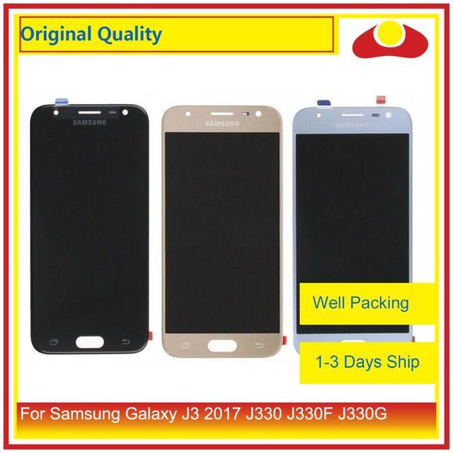 """מקורי 5.0 """"עבור Samsung Galaxy J3 2017 J330 LCD תצוגה עם מסך מגע Digitizer פנל Pantalla מלא J3 פרו 2017 LCD"""