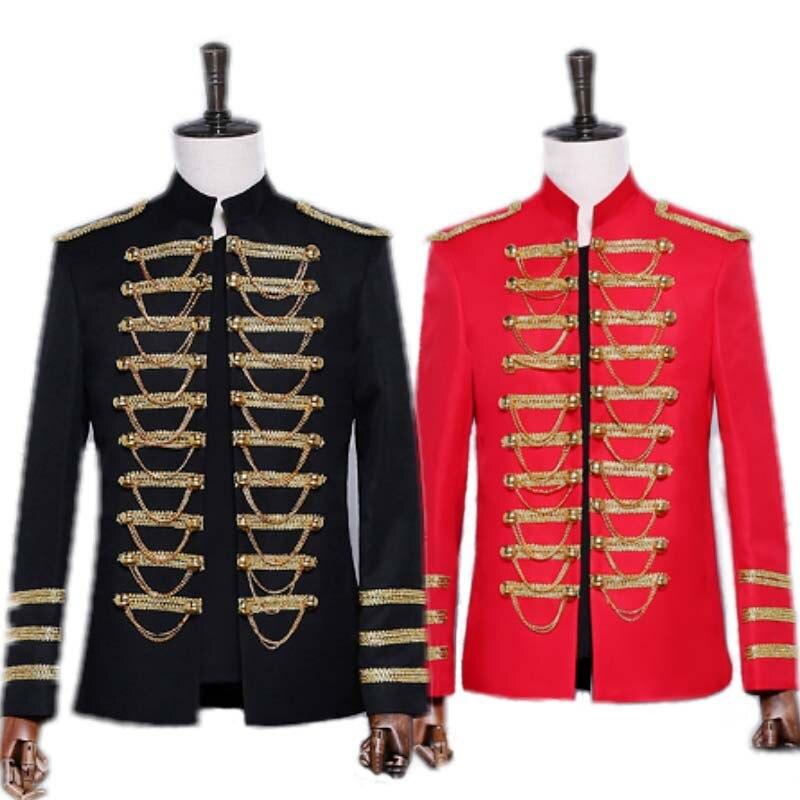 Haute qualité fête Cosplay Costumes vestes Costumes vêtements pour hommes hôte robe costume général Costumes diamant ensemble scène uniforme