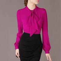 Women's Blouse Spring Real Silk Blouse Women Tops Fashion Woman Blouses 2019 Korean Vintage Blouse Shirt Chemisier Femme MY3191