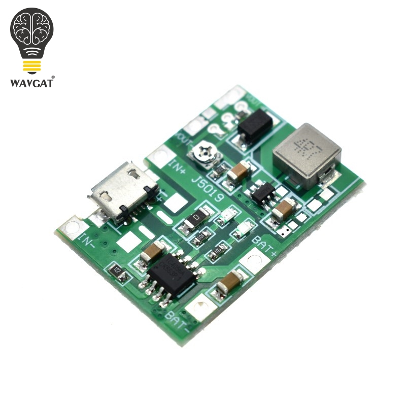 WAVGAT Lithium Li-Ion 18650 3,7 V 4,2 V Batterie Ladegerät Bord DC-DC Step Up Boost Modul TP4056 DIY Kit Teile.
