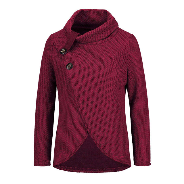 Women knitted pullovers Long Sleeve o neck Solid girl Pullover Tops Blouse Shirt pullovers winter women clothing  2