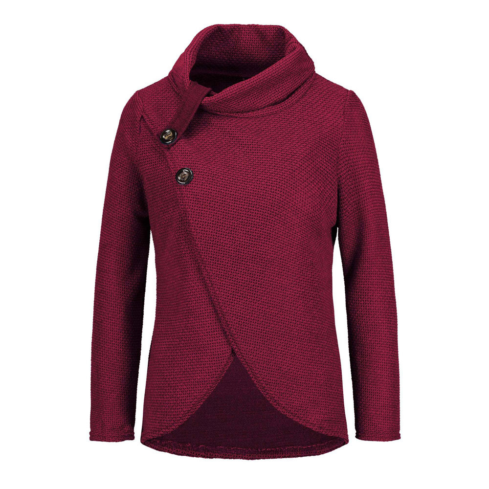 Women Knitted Pullovers Long Sleeve O Neck Solid Girl Pullover Tops Blouse Shirt Pullovers Winter Women Clothing #3