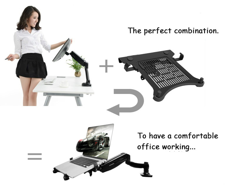 Notebook Tray Laptop Tray Tablet PC Tray For Loctek Monitor Holders DA1 in TV Mount from Consumer Electronics