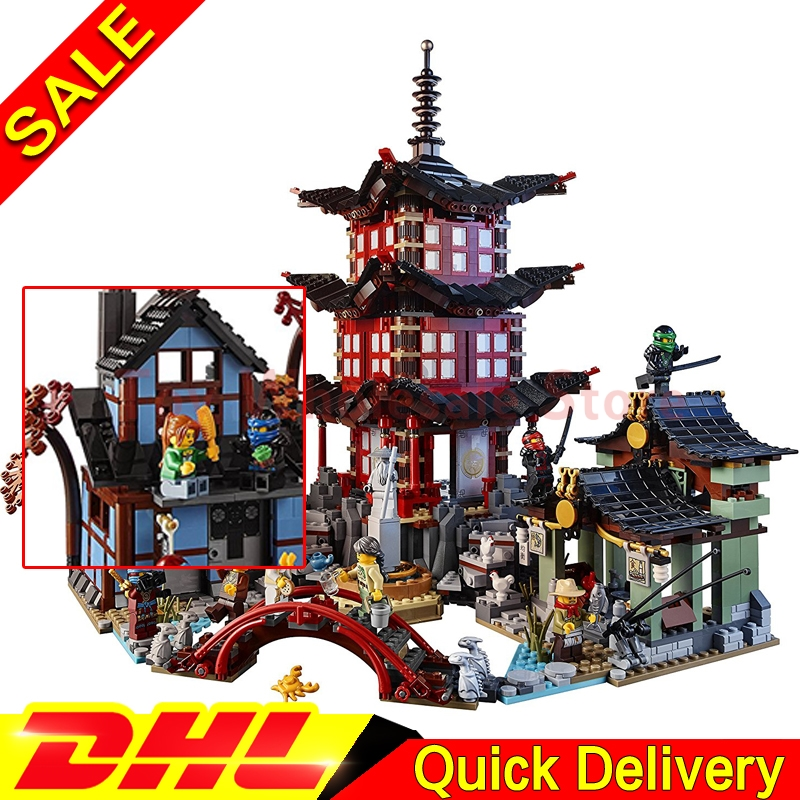 IN-STOCK 2150pcs Lepin 06022 City of Stiix Building Blocks Temple of Airjitzu anime figures Kids Bricks Toys Clone 70751 dhl in stock lepin 06022 2150pcs ninja temple of airjitzu jay kai cole building blocks bricks set diy toys fit for 70751