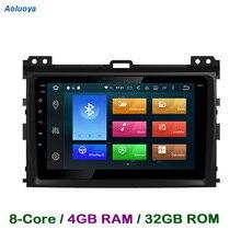 Aoluoya RAM 4 GB Octa-core Android COCHES Reproductor de DVD GPS Para Toyota Prado 120 Land Cruiser 120 2002-2010 de Radio Gps WIFI