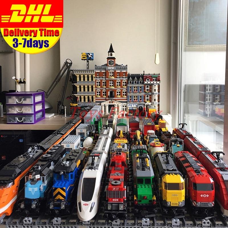 LEPIN Train Emerald Night Train Motor 02008 02009 02010 21005 21006 21007 21011 21029 02117 02118 Buillding Blocks Bricks Toys