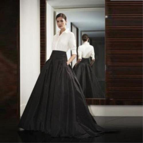 Plus Sz femmes noir longues jupes de fête robe de bal formelle mode jupe femmes