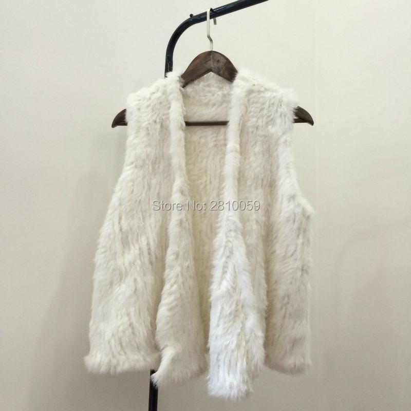 J0051 Best Real Natural Fur Vest Women's Genuine Rabbit Fur Australia Fashion Girl's Rabbit Fur Vest Coat