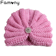 цены на Solid Knitted Cotton Baby Hats For Newborn Baby Children Fashion Cute Autumn Winter Warm Earmuffs Colorful Crown Caps Skullies  в интернет-магазинах