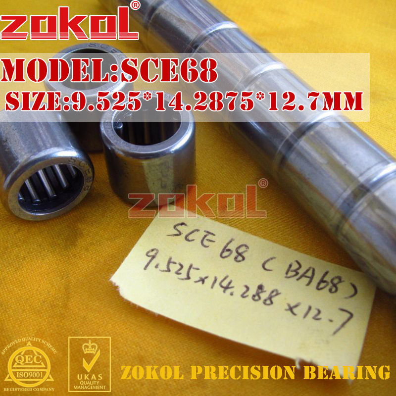 ZOKOL bearing SCE68 BA68 Type punch stamping outer ring needle roller bearings 9.525*14.2875*12.7mm na4910 heavy duty needle roller bearing entity needle bearing with inner ring 4524910 size 50 72 22