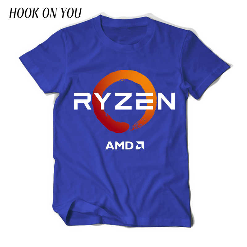 PC CP CPU Uprocessor AMD RYZEN T Shirt geek programmer tees Gaming camiseta Computer ZEN Peripherals cotton geek T-Shirt