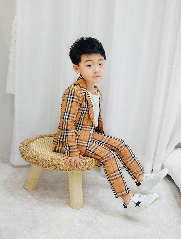 Wisefin Suit For Boys Children summer Gentleman plaid Suit For Boy Formal Kid Wedding Clothes Elegant Boy 2 ClothingWisefin Suit For Boys Children summer Gentleman plaid Suit For Boy Formal Kid Wedding Clothes Elegant Boy 2 Clothing