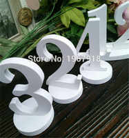 12cm Height White PVC Table Numbers Wedding Table Number Stand Unique Table Decorations Event Party Supplies