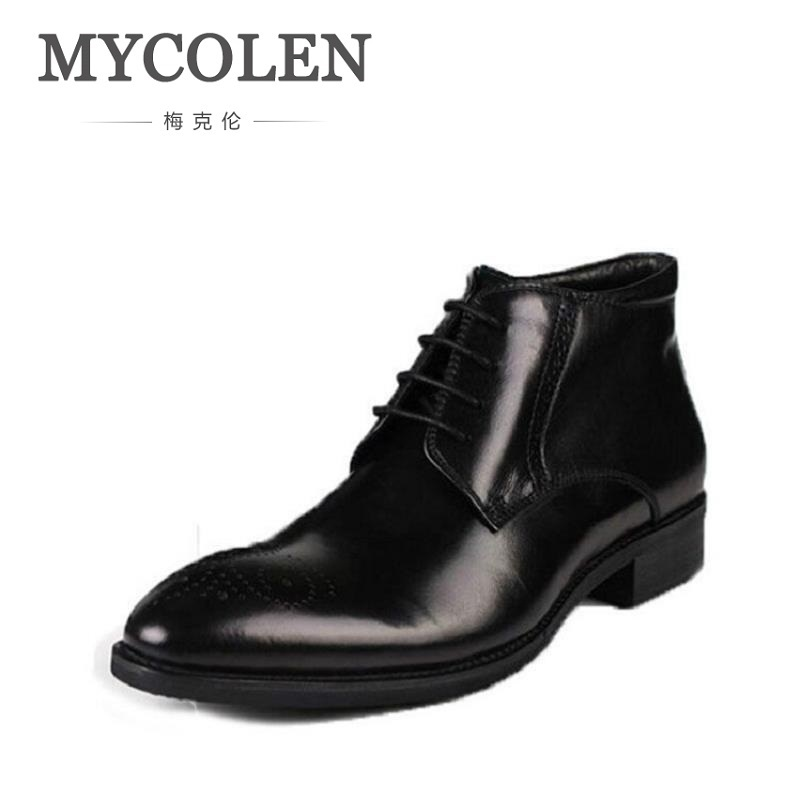 MYCOLEN Men Shoes Spring Autumn British Fashion Ankle Boots Men Comfortable Brogue Shoes Men Casual Brown Martin Boots Schoenen men s fashion casual cotton pants brown size 33