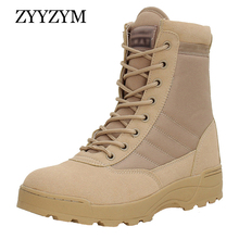 ZYYZYM 2019 Men Desert Tactical Military Boots Autumn Winter Mens High-Top Outdoors Shoes Army Boot Zapatos Ankle Combat Boots все цены