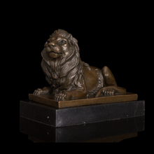 Chinese feng shui statue Formidable lying female Lion Bronze sculptures home decoration chinese guardian lions