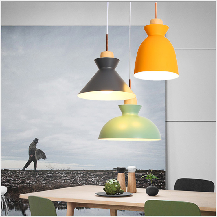 Nordic pendant lights art creative color candy living dining room bar balcony Cafe study Foyer solid aluminum ceiling lamp E27 цена и фото