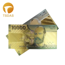 24K Gold Plated Banknote Chile 10.000 Peseo Banknotes Home Decoration Collection Gifts