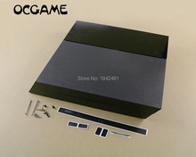 OCGAME Yüksek kaliteli Siyah tam konut shell kılıf tam set vidalar için ps4 1000 1100 konsolu