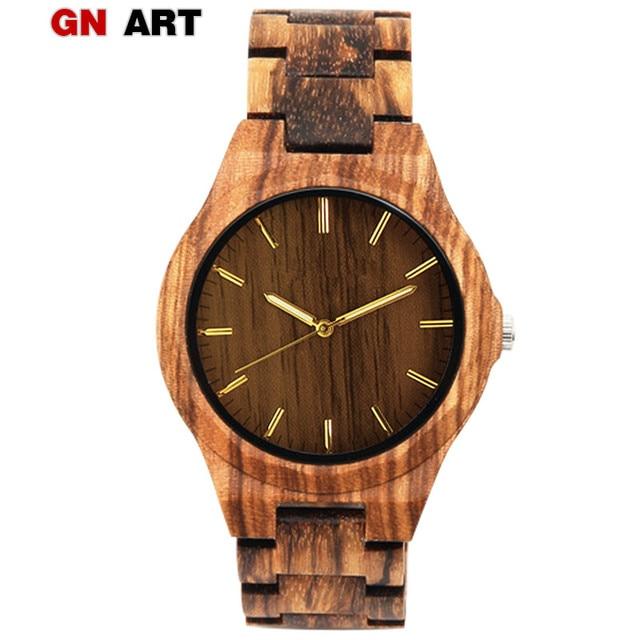 GNART wood watch male clok men relogio masculino wood watch luxury men brand FOR