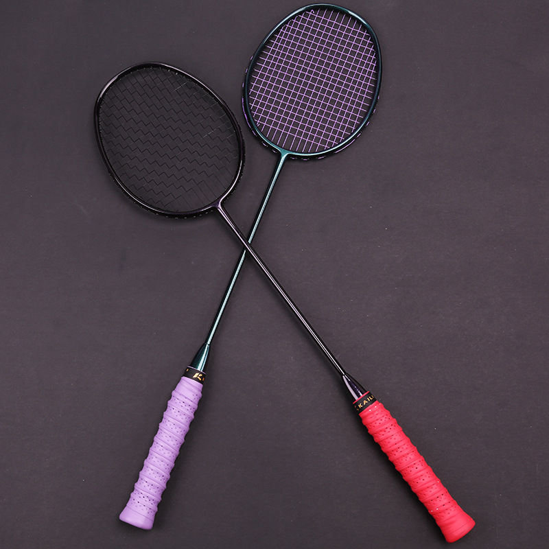Professional Powerful Mini Hitting Area Badminton Racket String 28Lbs Ultra Light 4U Badminton Full Carbon Rackets Racquet Speed