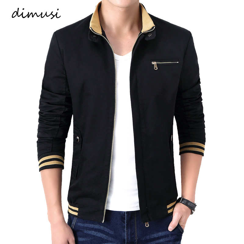 DIMUSI Spring Autumn Men's Bomber Jackets Male Outwear Windbreaker Stand Collar Jacket Mens Zipper Baseball Slim Coats Clothing