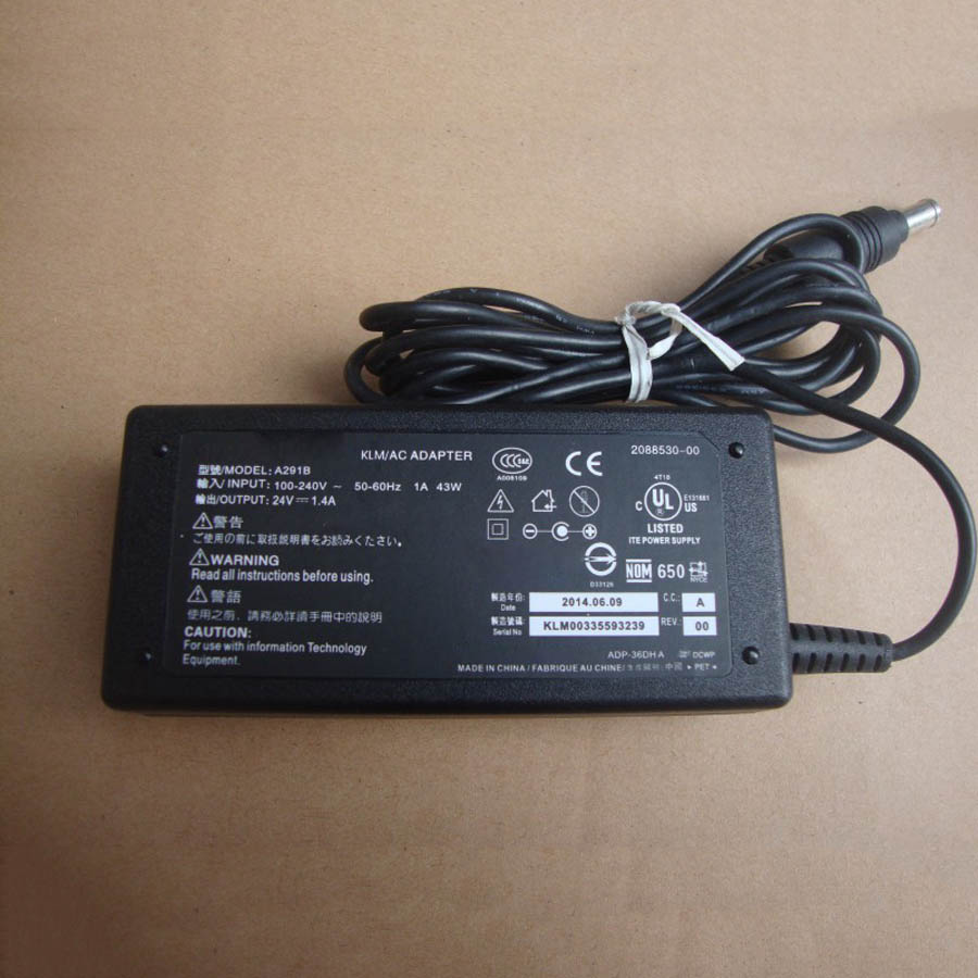 24V1.4A 1.3A AC / DC Power Adapter Charger For Epson 1660 2400 2480 2580 3400 3590 3170 4180 4490 V500 V600 V700 V750 Scanner
